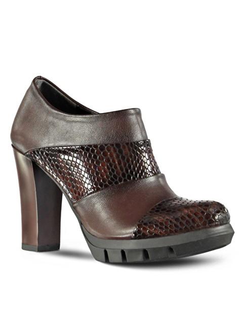 Marjin Topuklu Ayakkabı Kahve